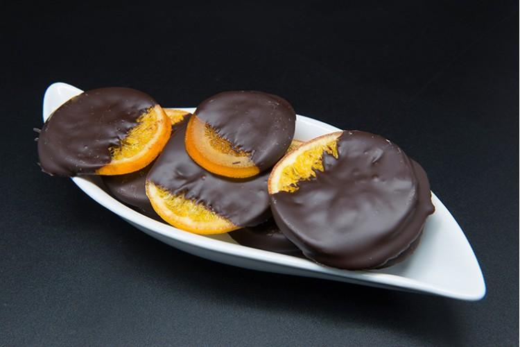 Naranja confitada chocolate