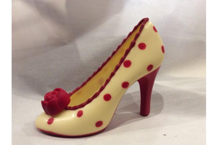 Zapato tacón grande chocolate