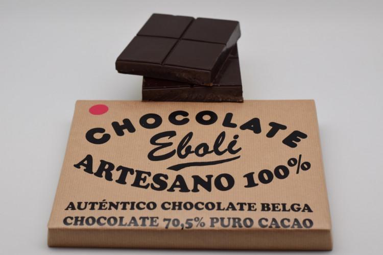 Tableta chocolate negro 70% de cacao 1kg
