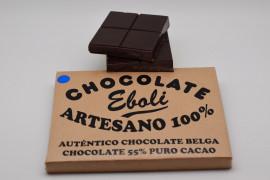 Tableta chocolate negro 55% de cacao 1kg