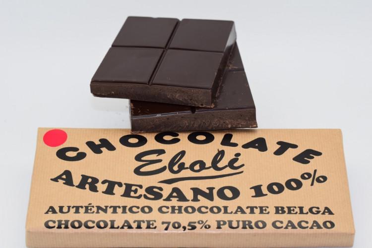 Tableta chocolate negro 70% de cacao 500grs