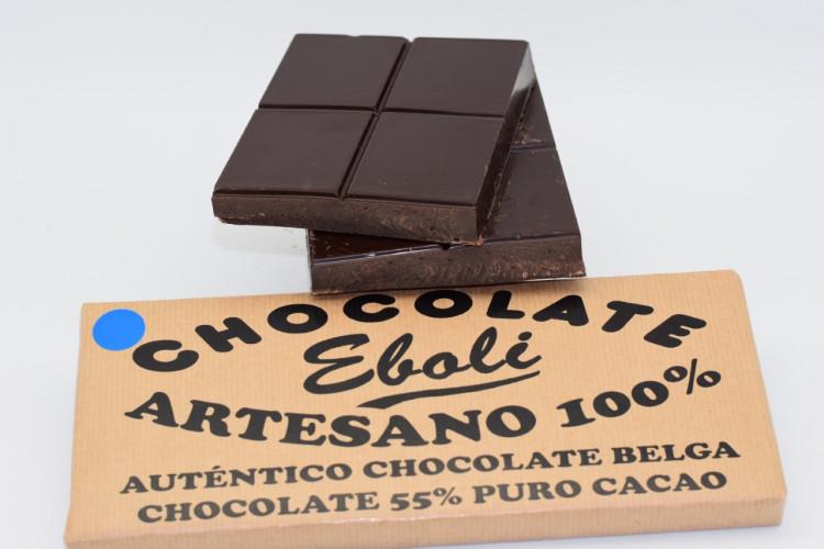 Tableta chocolate negro 55% de cacao 500grs