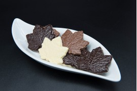 Hojas chocolate tres sabores